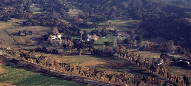 King Gillette Ranch aerial view.